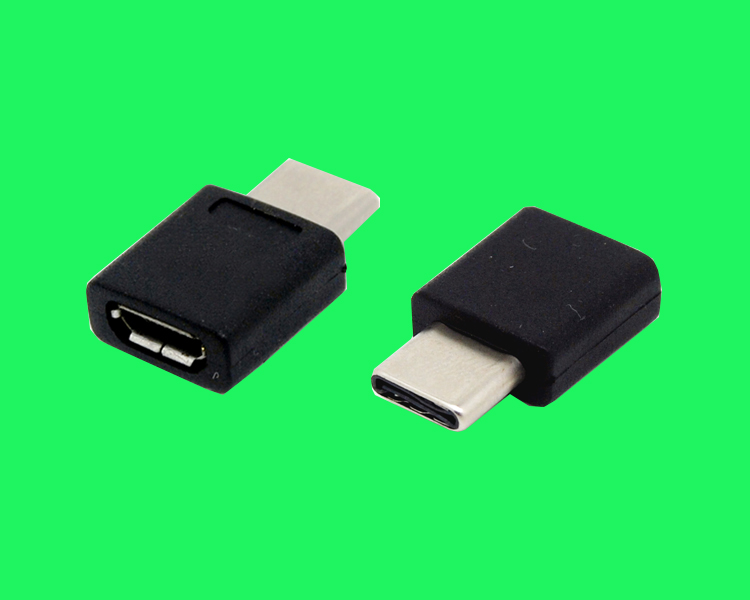 USB TYPE CM TO MICRO USB 2.0 BF转接头180D